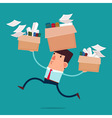 moving to new office vector image