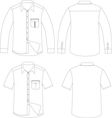 outline shirt vector image vector image