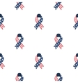 Patriotic ribbon icon in cartoon style isolated on vector image vector image
