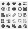 Poker icons set vector image vector image