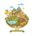 protection nature vector image vector image
