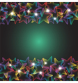 rainbow stars with lights vector image