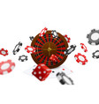 realistic poker composition vector image