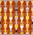 seamless background with vintage amphorae vector image vector image