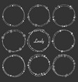 set of dividers round frames for decoration vector image