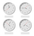 set of realistic classic round clocks showing vector image