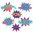 set of six cartoon comic balloon speech bubbles vector image vector image