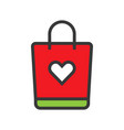 shopping bag online shopping filled style icon vector image vector image