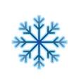 single snow flake vector image