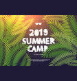 summer holiday and travel themed camp vector image