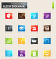 university bookmark icons vector image vector image