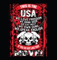 usa t-shirt design with flag vector image