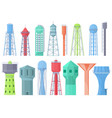 water tower tank storage watery resource vector image