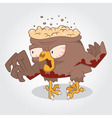 Zombie bird vector image vector image