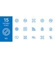 15 no icons vector image vector image