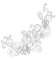 Abstract contour shape vector image