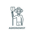agronomist line icon agronomist outline vector image vector image