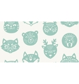 Animal paper cut seamless pattern vector image vector image