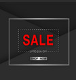 banner sale up to 25 off shop now square i vector image vector image
