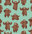 Bear seamless pattern Grizzly ornament Set wild vector image vector image
