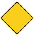 blank yellow sign empty yellow symbol on white vector image vector image