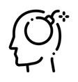 bomb dynamite man silhouette headache icon vector image vector image