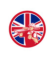 british lumber yard worker union jack flag icon vector image vector image