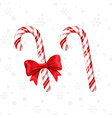 candy cane with red bow and without christmas vector image vector image