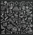 chalkboard sketch icons set business collection vector image
