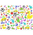 children patterns seamless background vector image vector image