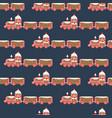 christmas gingerbread train seamless vector image vector image