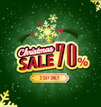 Christmas Sale 70 Percent typographic background vector image vector image