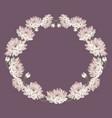 chrysanthemums decorative circle frame vector image vector image