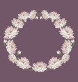 chrysanthemums decorative circle frame with vector image