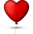 Classical red balloon heart vector image