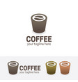 coffee shop logo vector image vector image