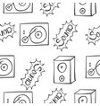 collection of music sound doodles vector image vector image