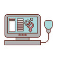 computer medical gender female male symbol vector image