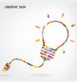 Creative light bulb Idea concept background vector image vector image