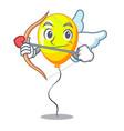 cupid yellow balloon cartoon in shape vector image