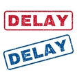 Delay Rubber Stamps vector image vector image