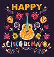 design for mexican holiday 5 may cinco de mayo vector image vector image