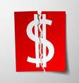 Dollar currency symbol vector image vector image