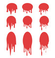 drops stickers or paint circle labels vector image