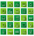 Electronic flat web icons vector image vector image