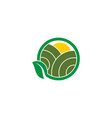 farm landscape nature icon design template vector image