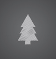 fir-tree sketch logo doodle icon vector image vector image