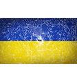 Flags Ukraine with broken glass texture vector image
