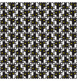 geometric seamless pattern black and white of vector image