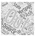 get out of that mortgage Word Cloud Concept vector image vector image